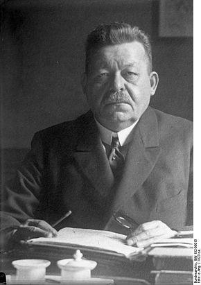 Der erste demokratisch gewählte Reichspräsident Friedrich Ebert. Quelle: Wikipedia